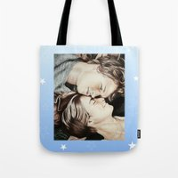 fault in our stars Tote Bags featuring The Fault in Our Stars by Francesca Cosentino