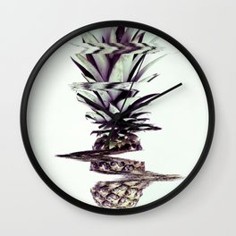 Glitched Pineapple Wall Clock