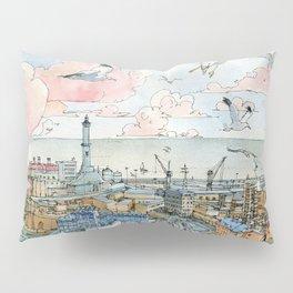 Genova e la Lanterna Pillow Sham