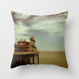Fairground Pier Throw Pillow