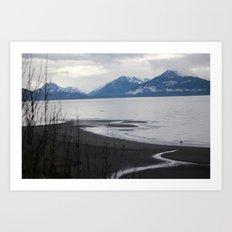 Solitude :: A Lone Kayaker Art Print