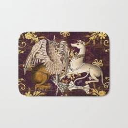 Gryphon and Greyhound - Garden of Beasts Collection Bath Mat