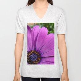 Purple Osteospermum Unisex V-Neck