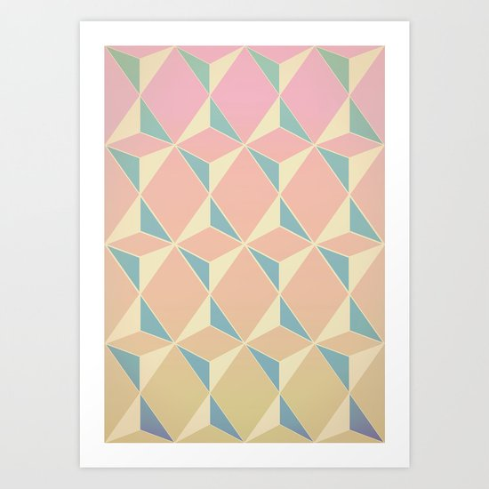 Triangles and Squares XI Art Print