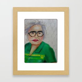 Chicken Hen Helen Framed Art Print