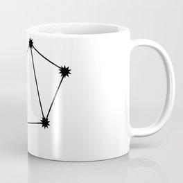 Libra Star Sign Black & White Coffee Mug