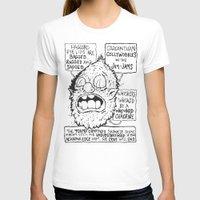 sasquatch T-shirts featuring Depressed Sasquatch by Brent Braaten