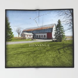 Grange & Outardes - Bienvenue Throw Blanket