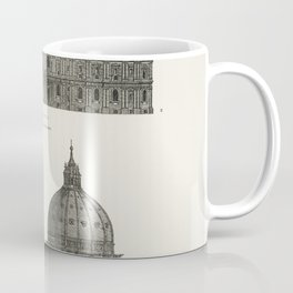 Architecture St Paul and St Peters Cathedral from the book Encyclopaedia Britannica 9th edition (1875)  of the famous religious British landmark Coffee Mug