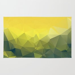 YELLOW AND KHAKI LOWPOLY Rug
