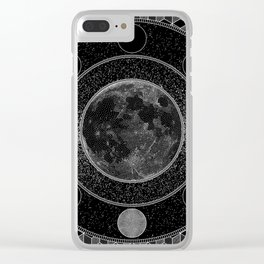 Thoth / Moon Mandala Clear iPhone Case