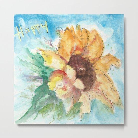 Happy Sunflower Metal Print