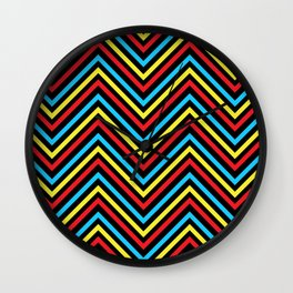 Abstract  wave background  Wall Clock