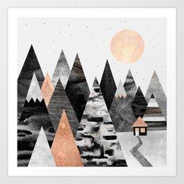 Little Cabin Art Print