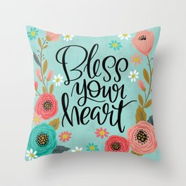 Pretty Not-So-Swe*ry: Bless Your Heart Throw Pillow
