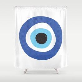 Evil Eye Symbol Shower Curtain