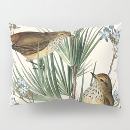 Little Birds and Flowers III Pillow Sham