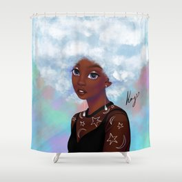 head in the cloud Shower Curtain