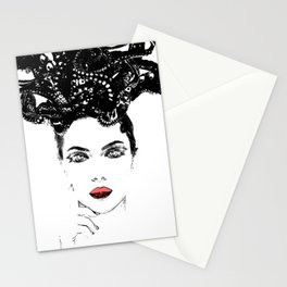 La femme Medusa white Stationery Cards