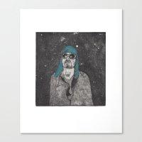kurt rahn Canvas Prints featuring Kurt  by Jackie Sharayko