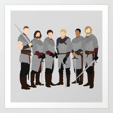Merlin bbc, The Knights of the Round Table Art Print
