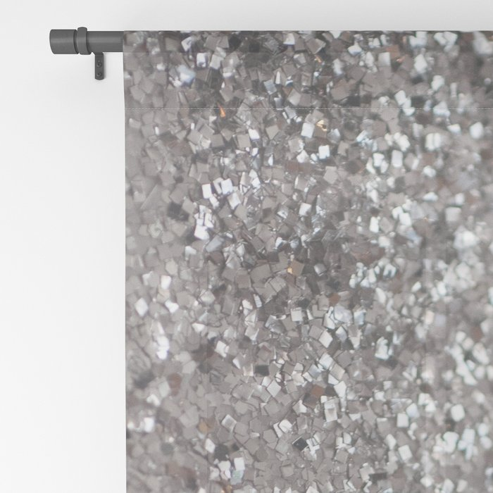 Sparkling SILVER Lady Glitter #1 #decor #art #society6 Sheer Curtain