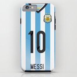 World Cup 2014 - Argentina Messi Shirt Style iPhone Case