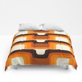 Mid-Century Modern Meets 1970s Orange Comforters