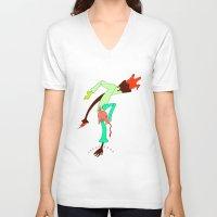 power rangers V-neck T-shirts featuring i met the power rangers by yogib33r