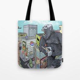 Rocket Boy vs Death Gorilla Tote Bag
