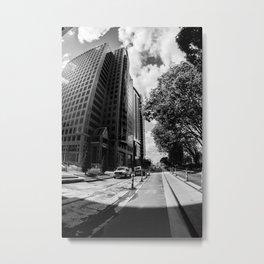 Charlotte Building Black and White Metal Print