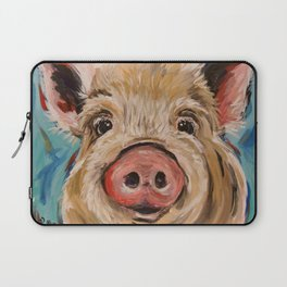 Pig Painting, Colorful Pig Laptop Sleeve