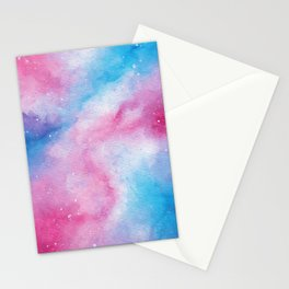 Cotton Candy Galaxy Stationery Cards