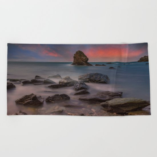 Rhoscolyn Rocks Beach Towel
