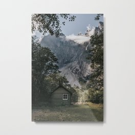 Mountain Cabin - Landscape and Nature Photography Metal Print