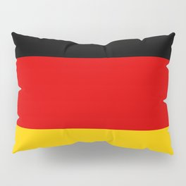 German flag - High Quality version both in scale and color Pillow Sham