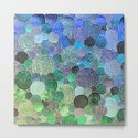 Abstract blue& green glamour glitter circles and polka dots for ladies by betterhome
