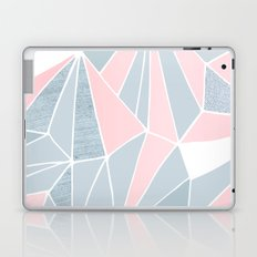 Cool blue/grey and pink geometric prism pattern Laptop & iPad Skin