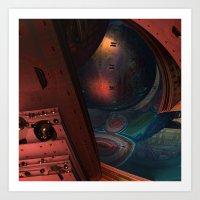 sci fi Art Prints featuring Sci-Fi by Lyle Hatch