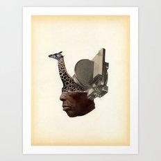 African Head Charge Art Print