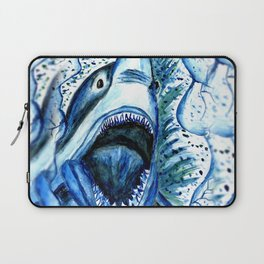 Hungry Shark Drawing Laptop Sleeve