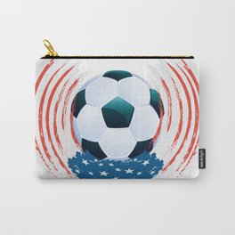 Football Ball and red, white Strokes Carry-All Pouch