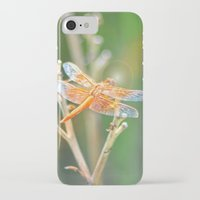 dragonfly iPhone & iPod Cases featuring Dragonfly by Lisa Argyropoulos