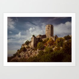 An old abandoned castle Art Print