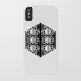 #2 Geometric Triangles Black And White iPhone Case