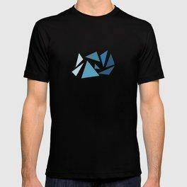 blue geometric T-shirt