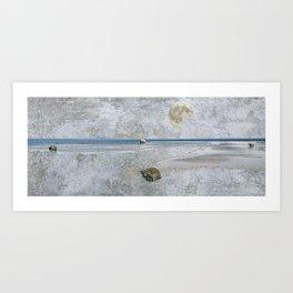 Blue Shores Art Print