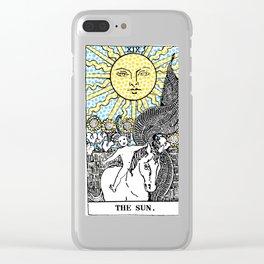 Modern Tarot Design - 19 The Sun Clear iPhone Case