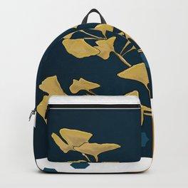 Gingko and hexagons Backpack
