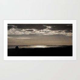 The Severn Bridges at Sunset Art Print
